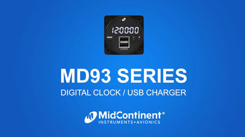MD93 Series Digital Clock / USB Charger