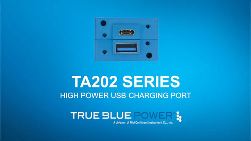TA202 Series High Power USB Charging Port (Easy-to-install)